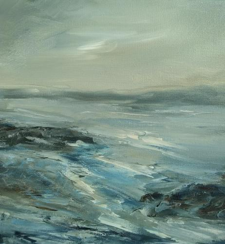 Anglesey cliff walkOriginal oil painting by Susan Farrington £95