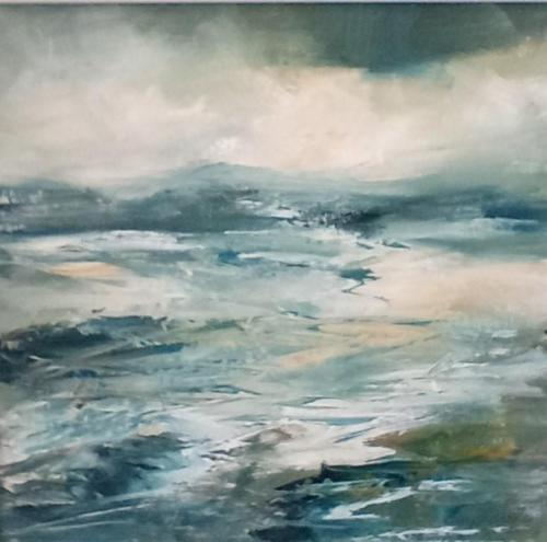 Angleseylooking to Snowdonia Original oil painting by Susan Farrington  £95