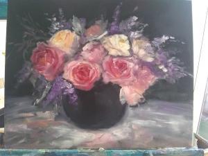 Beautiful bowl of flowers