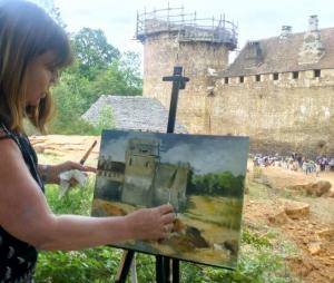 Guidelon France Oil Painting by Sue Farrington. jpg