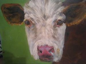 Henry the HerefordOriginal Oil painting by Susan Farrington