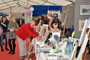 Me at Artfest Chester racecourse 2014