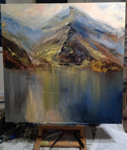 Snowdonia Original Oil painting by Susan Farrington £165 60cm x 60cm