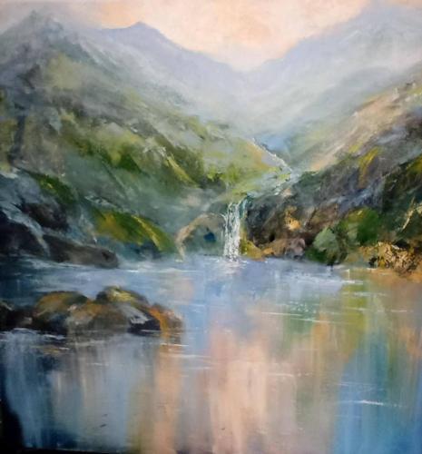 Snowdonia  early morningOriginal oil painting by Susan Farrington £16560 cm x 60 cm