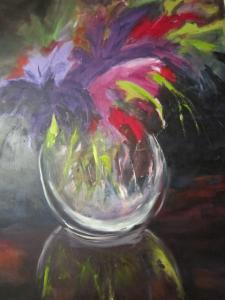 Chiaroscuro vase of flowers