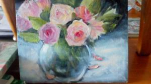 vase of roses 2u
